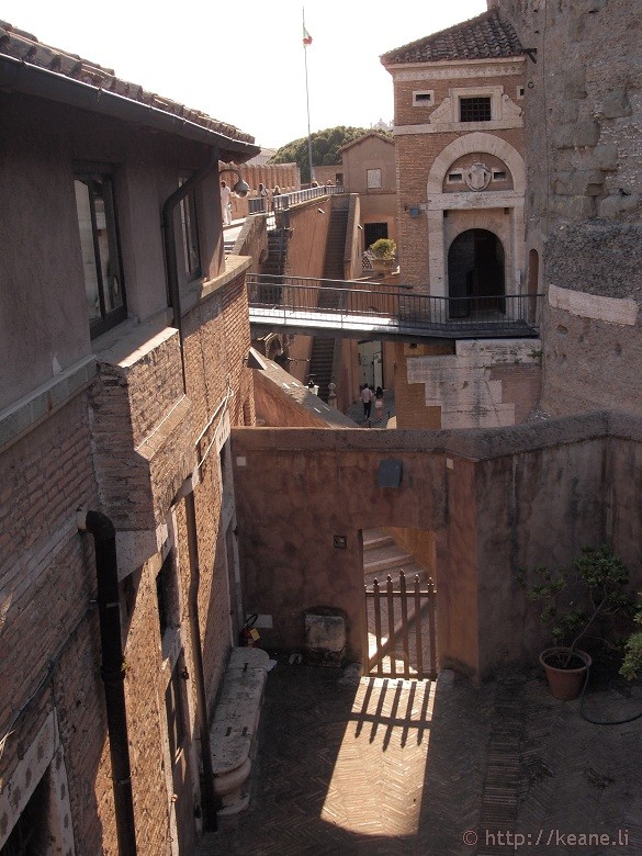 Inside Castel Sant'Angelo in Rome