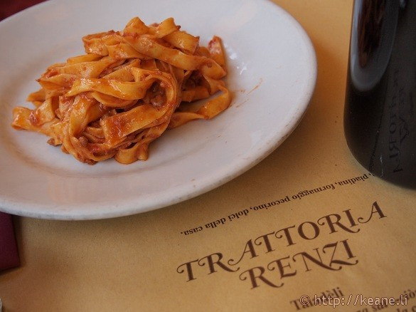 Tagliatelle al ragù at Trattoria Renzi in Santarcangelo di Romagna