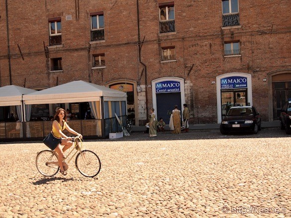 Palio di Ferrara - Girl on Bike