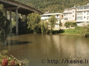 Lake and overpass in a town near Dali