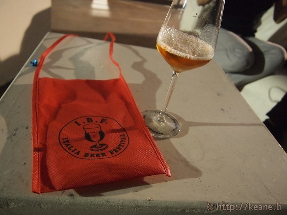 Italian Beer Festival - Official Bib and Tasting Glass