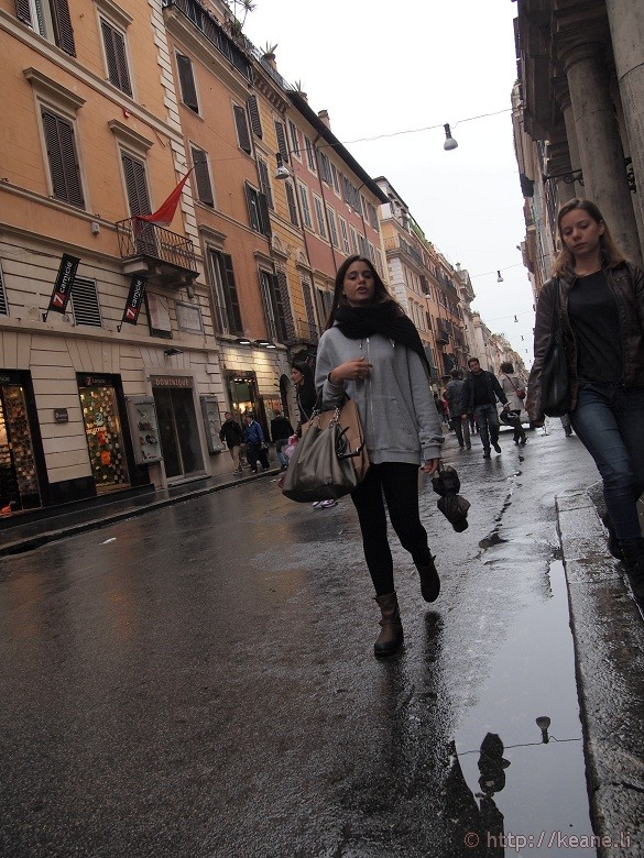 Italian Girls in the Rain