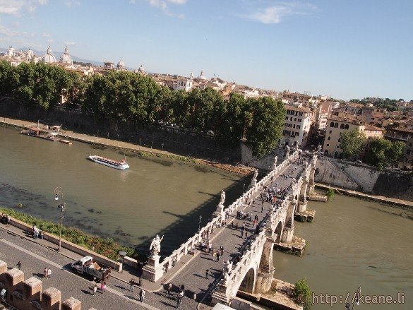 Ponte Sant'Angelo from the Castel Sant'Angelo in Rome