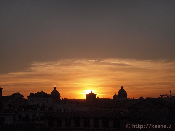 The Sunset in Rome from Campidoglio