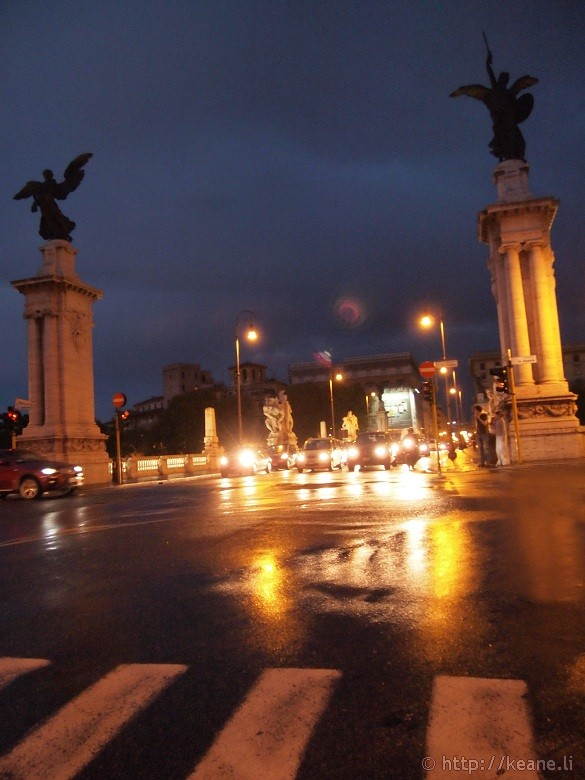 Rome in the Rain - Outside Vatican City