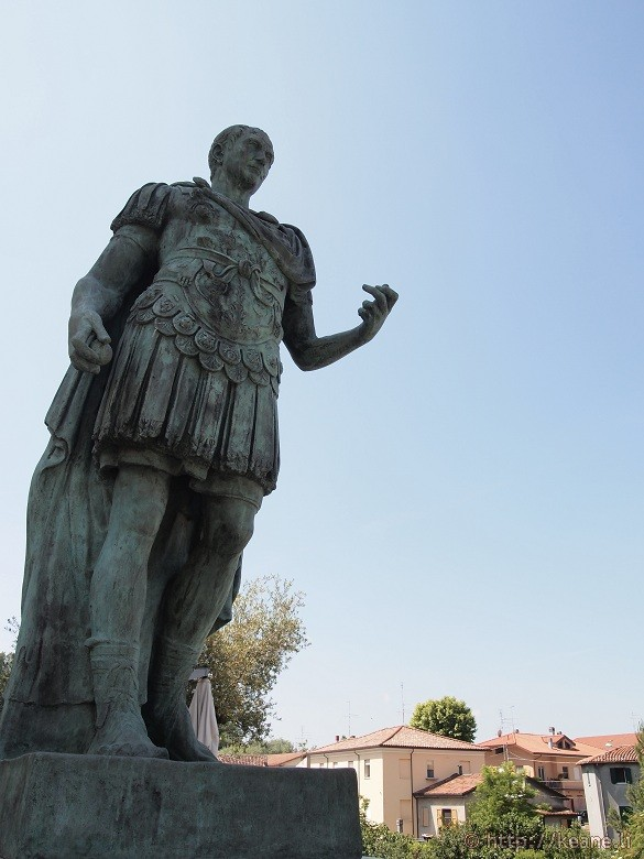 Crossing the Rubicon - Julius Caesar statue in Savignano sul Rubicone