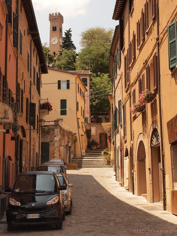 The streets of Santarcangelo di Romagna