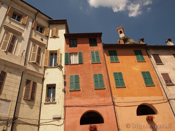 Colorful architecture of Brisighella