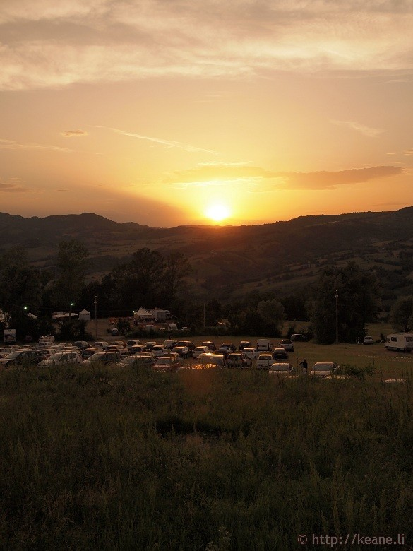 The sunset over Pennabilli