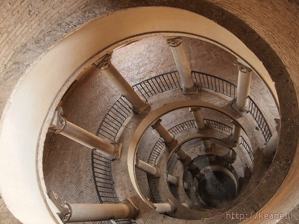 Looking down from the top of Bramante's Staircase