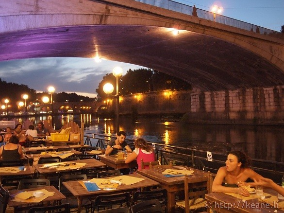 Summer Nights in Rome - Dining along the Tevere