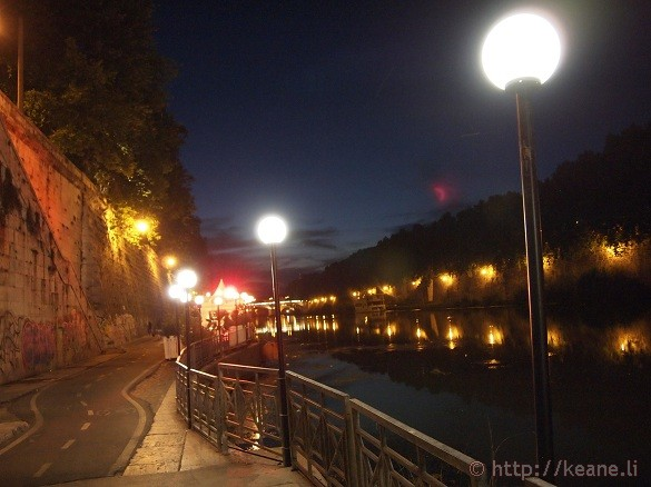 Summer Nights in Rome - Lanterns along the Tevere
