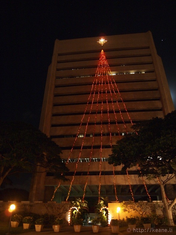 Honolulu City Lights - Christmas 2012 - Tree and Star