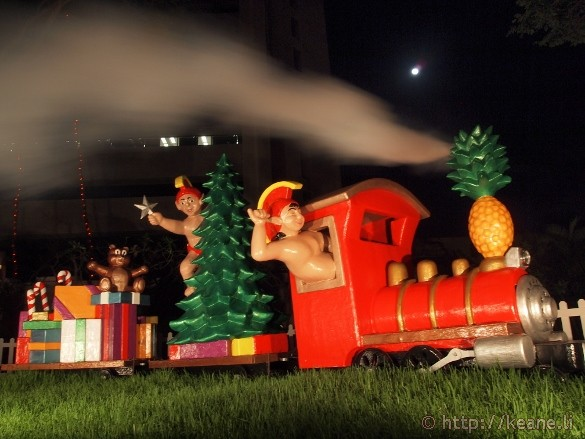 Honolulu City Lights - Christmas 2012 - Train with Steam