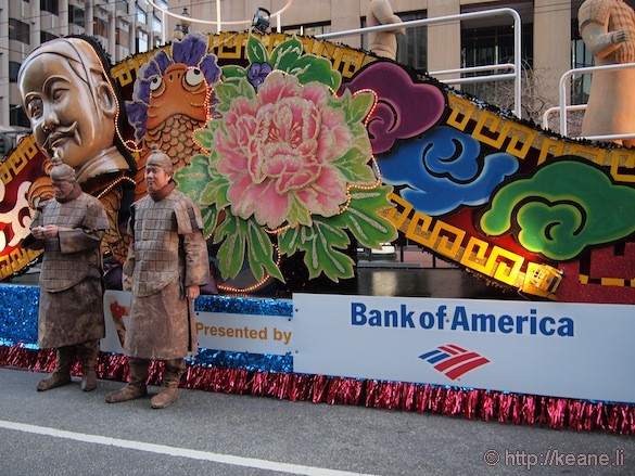 Bank of America Chinese New Year parade float in San Francisco