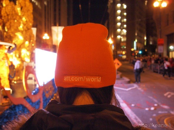 AT&T World orange beanie cap in Chinese New Year parade