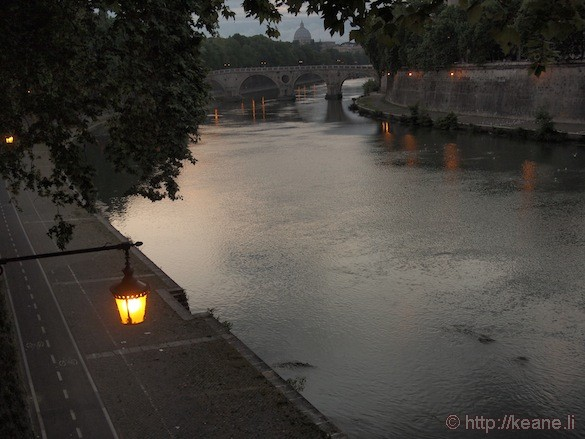 Rome - Tevere river at twilight