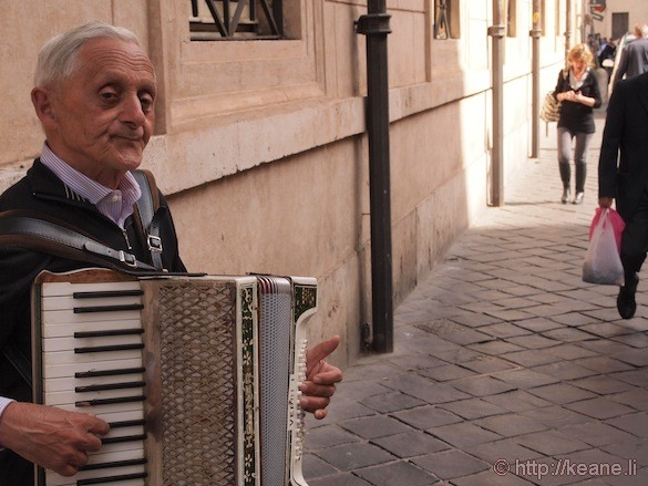 Rome - Accordion street performer in the Centro Storico