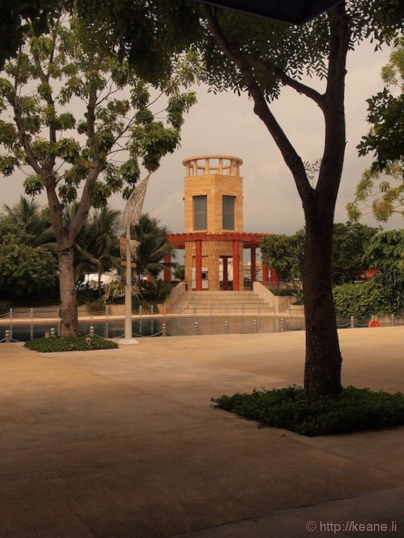 Sentosa Island in Singapore - Tree and building
