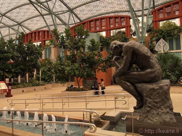 Sentosa Island in Singapore - Rodin's Thinker