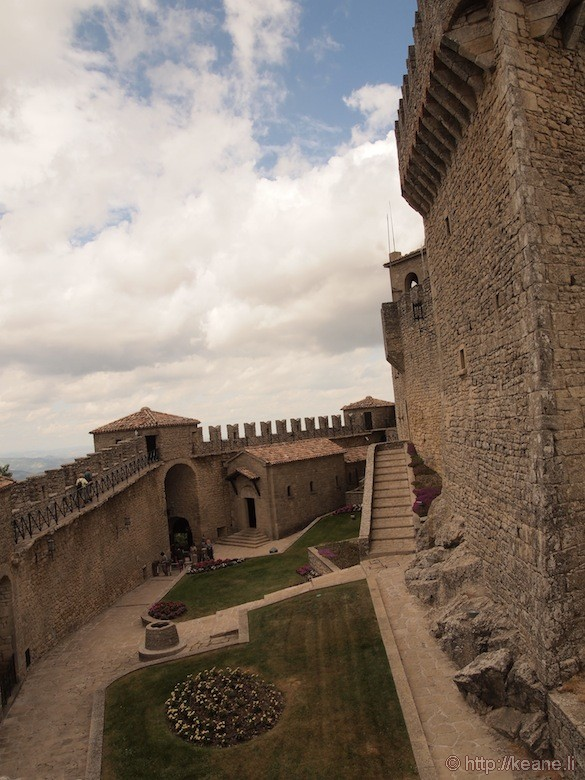 Courtyard inside Guaita Castle in San Marino