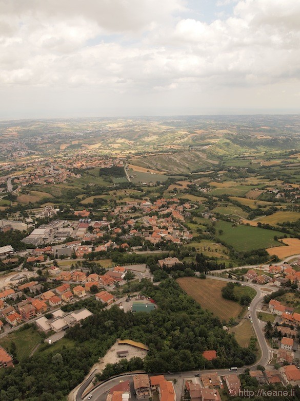 View from the top of Guaita Castle in San Marino