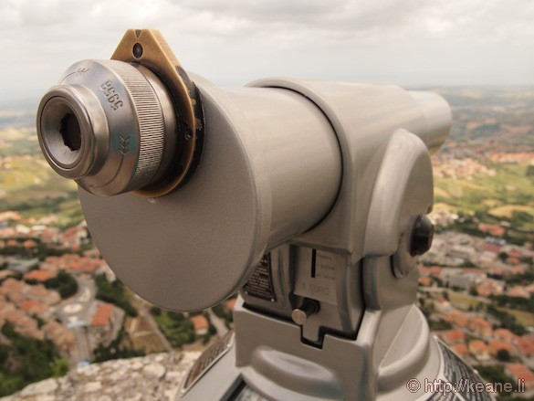 Telescope in Guaita Castle in San Marino
