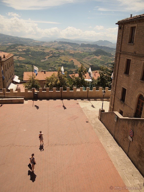 Courtyard in San Marino