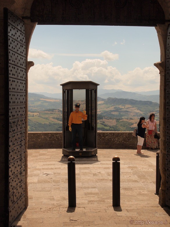 Entry Gate and Guard in San Marino