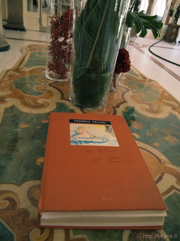 Grand Hotel Rimini - Federico Fellini book in lobby
