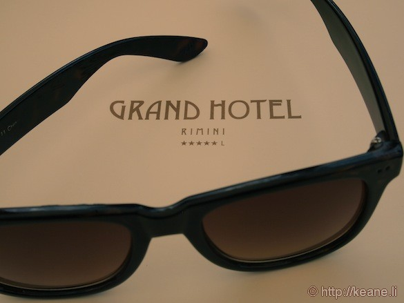 Grand Hotel Rimini - Bar menu and sunglasses