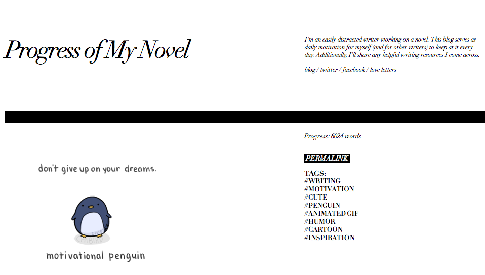 Progress of My Novel - A motivational and useful resource for writers and storytellers