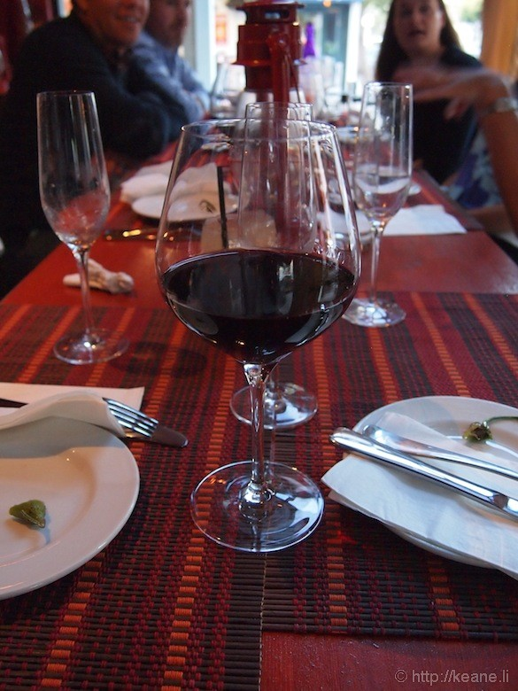 Grand Opening of Muka in San Francisco - Red Wine