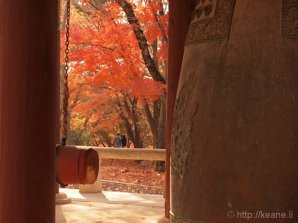 Bell and Couple in Gyeongju Temple Grounds