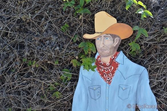 Cowboy on Main Street in Half Moon Bay