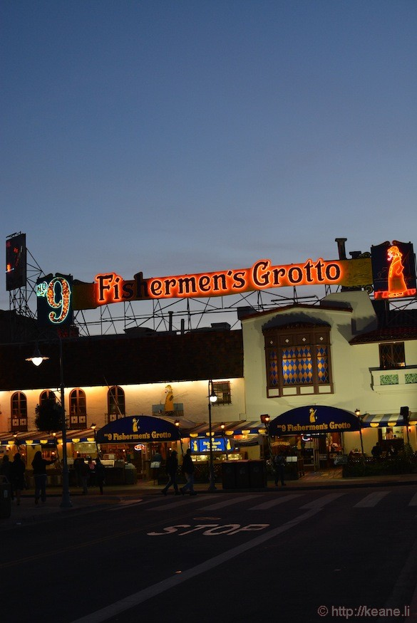 Fisherman's Grotto and Alioto's at Night