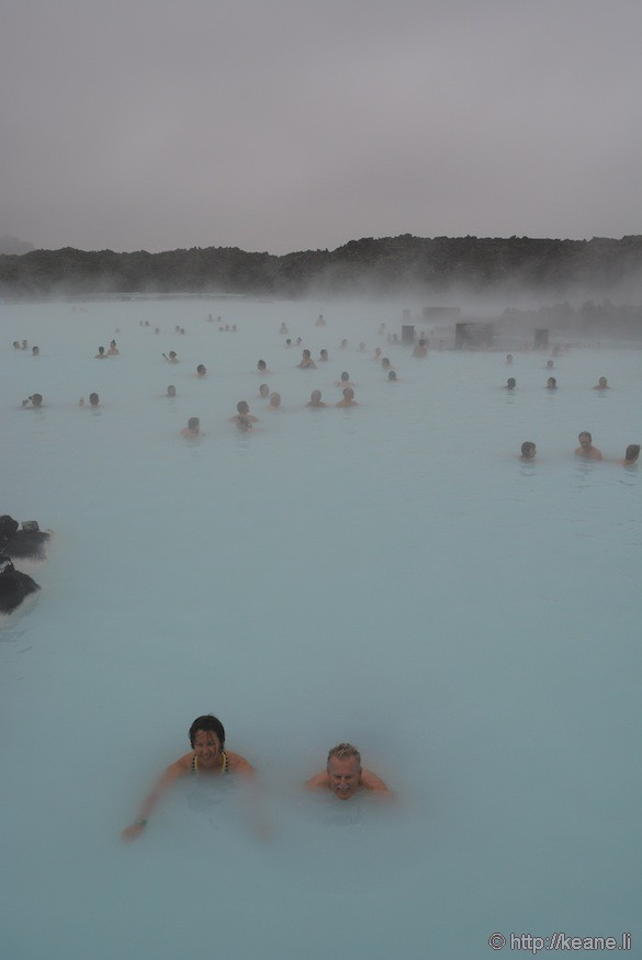 People Swimming in the Blue Lagoon