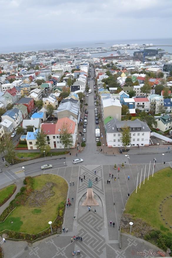 Reykjavík from atop Hallgrímskirkja