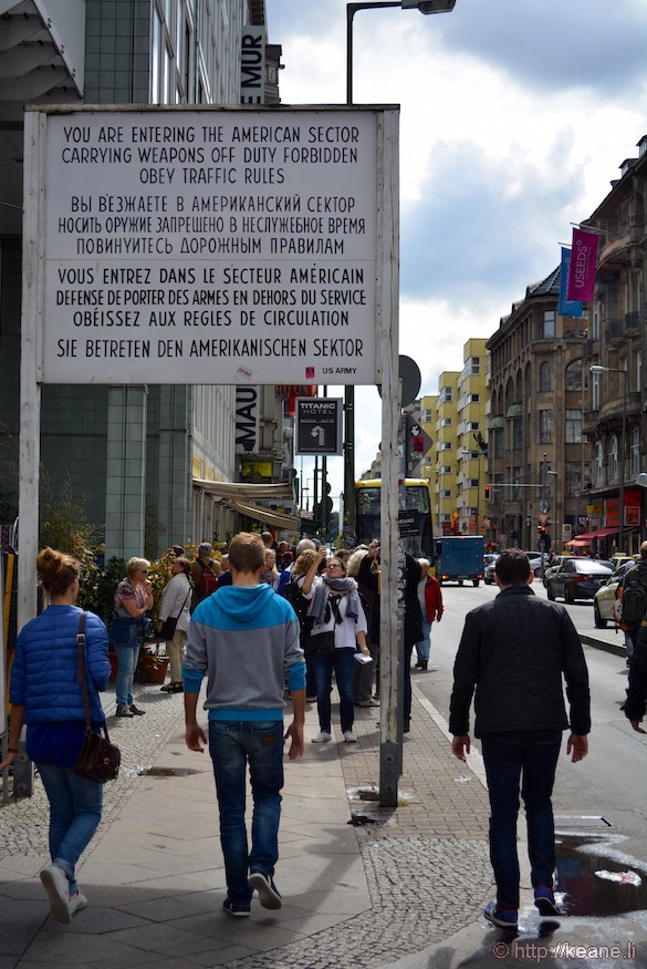 Berlin Checkpoint Charlie Sign