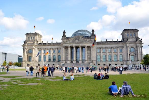 Reichstagsgebäude (Reichstag Building) in Berlin of the German Bundestag