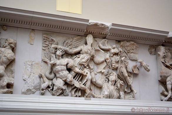 Relief on Pergamon Altar at Berlin's Pergamon Museum