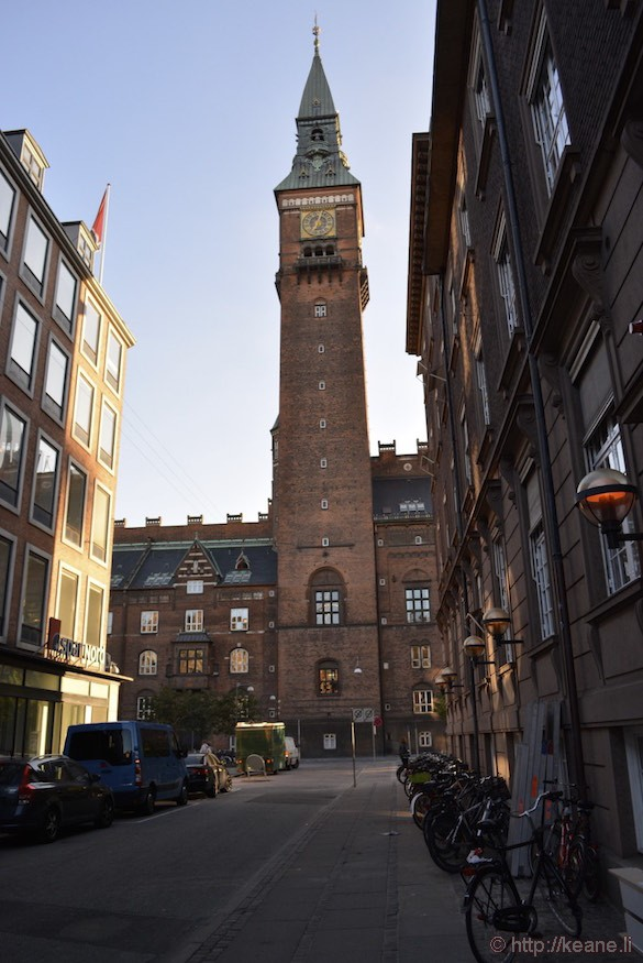 Tower in Copenhagen and Alley