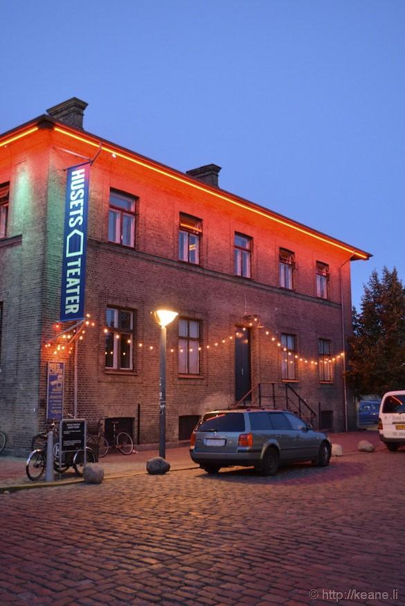 Husets Teater in Copenhagen at Night