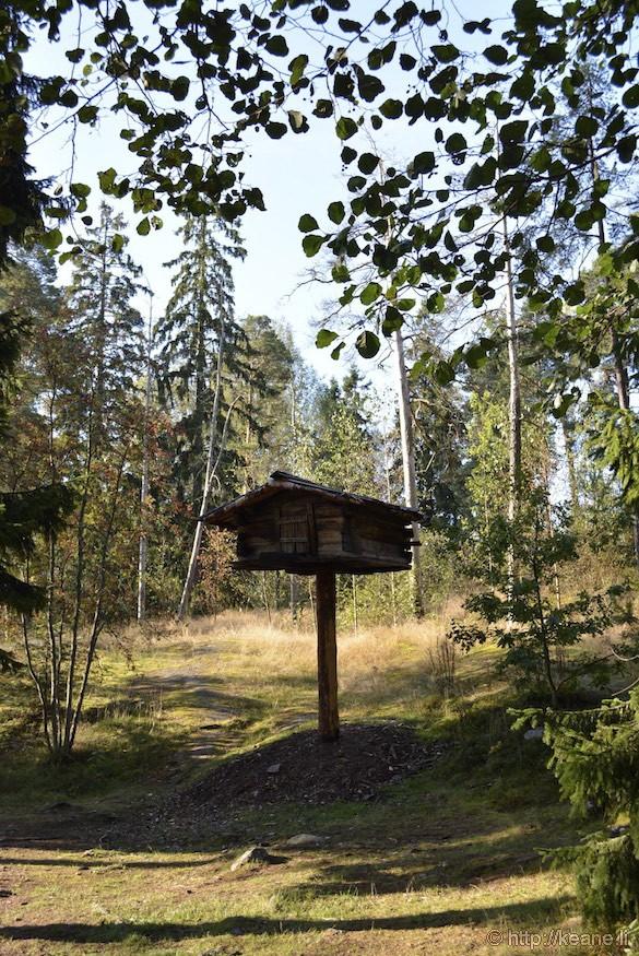 Tree-storehouse at the Seurasaari Open-Air Museum in Helsinki