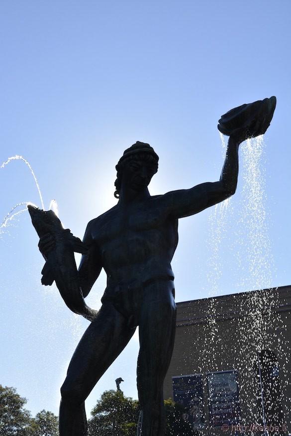 Poseidon Statue in Downtown Gothenburg