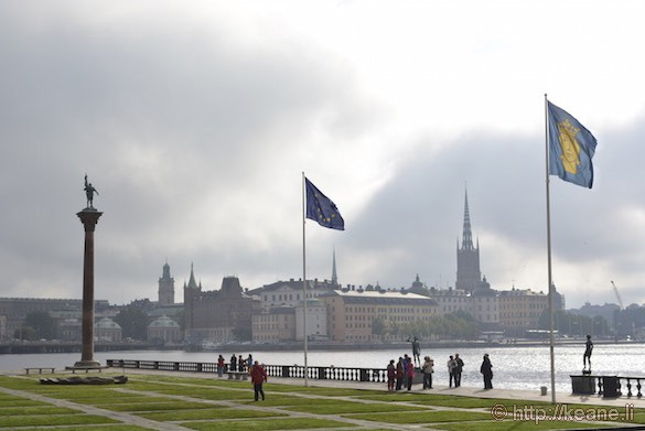 Stockholm Waterfront and Column