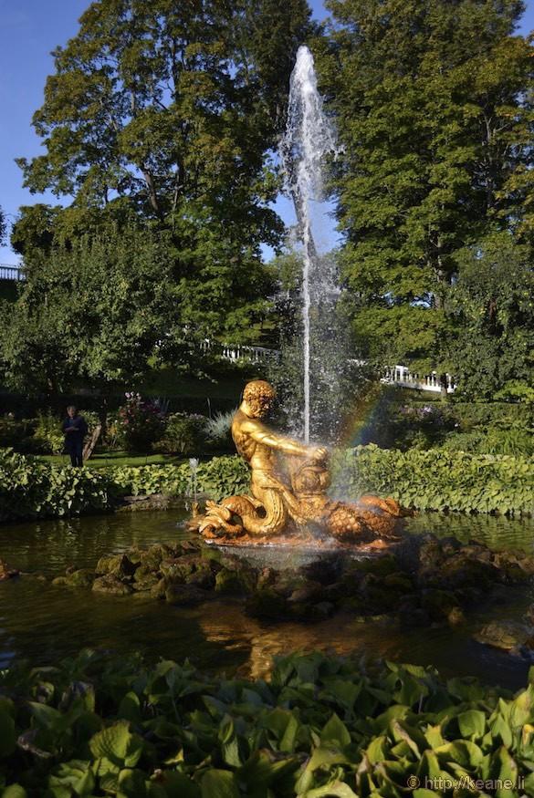 Fountain in Peterhof Palace Gardens
