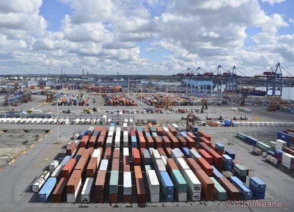 Colorful Crates at Gothenburg Port