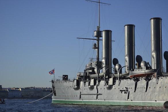 Naval Ship in St. Petersburg Waters
