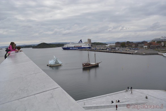 View from the Top of the Oslo Opera House